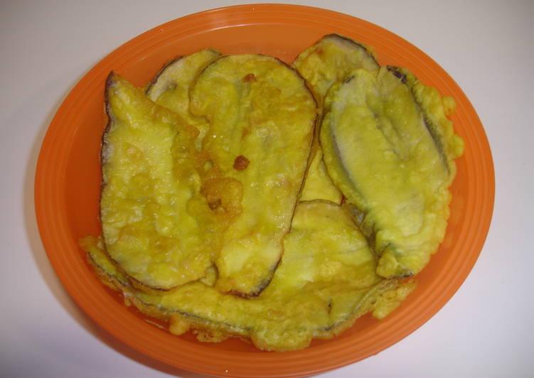 Berenjenas finas con tempura