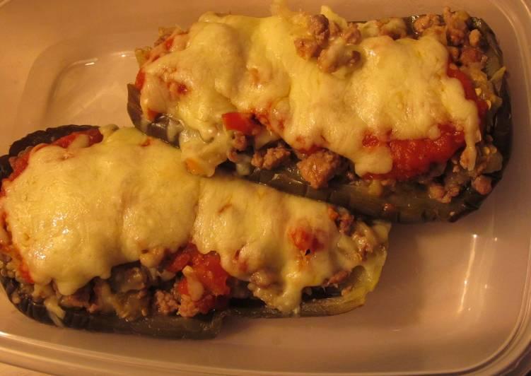Berenjenas rellenas de carne y queso receta de molly cookpad - Berenjena rellena de carne ...