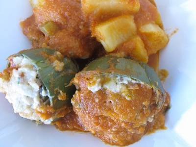 Alcachofas rellenas a la italiana