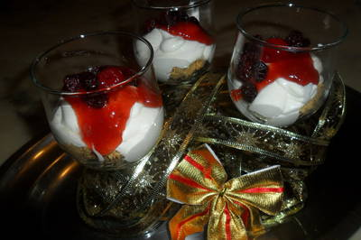 Copas de cheese cake