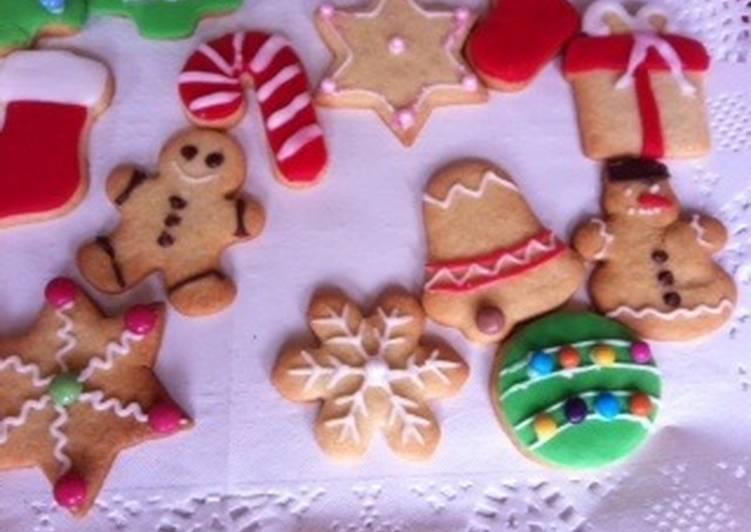 Galletas Decoradas De Navidad Receta De Erika Cookpad