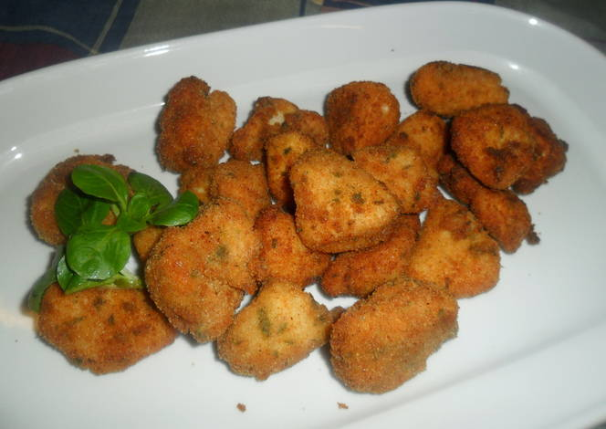 Nuggets de pechuga de ganso fritos