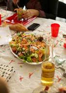 Ensalada de salmón ahumado para Navidad