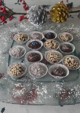 Bombones decorados para Navidades