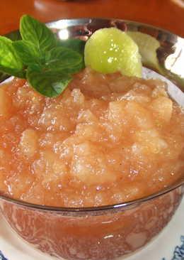 Conserva ecológica de manzanas al aroma de haba tonka