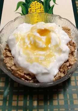 Cereales integrales con yogur y miel