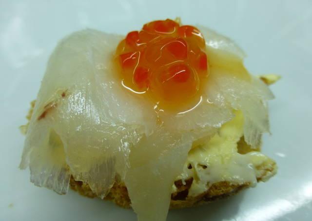 Canap de bacalao ahumado y caviar rojo receta de for Canape de caviar