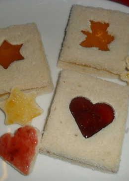 Sandwichs dulces con ventanitas
