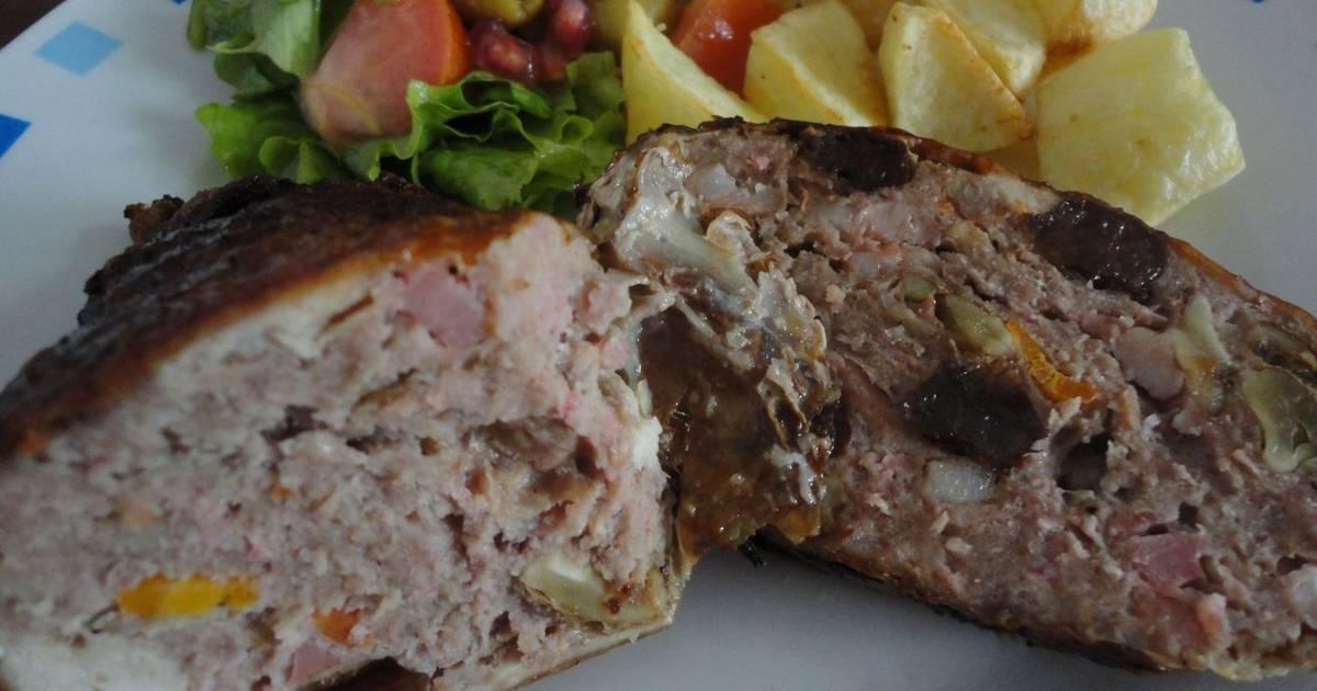 Pollo relleno de carne y frutos secos receta de rebekita cookpad - Como cocinar carne picada ...