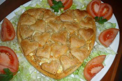 Tarta salada enamorada