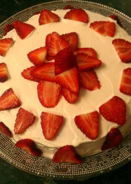 Bizcocho yogur griego de fresas