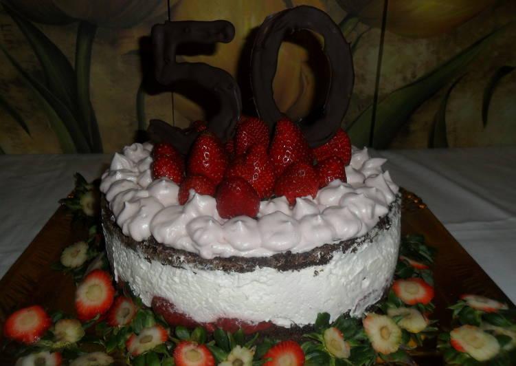 Torta De Chocolate Con Chantilly Y Fresas Receta De Gabriela