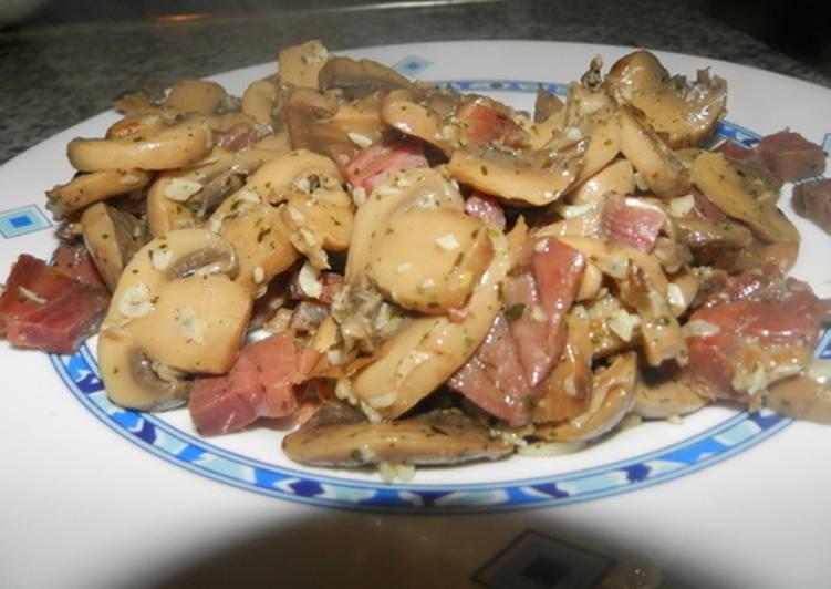 Cocinar Champiñones Al Ajillo | Champinones Al Ajillo Con Jamon Serrano Receta De Carmem Cookpad