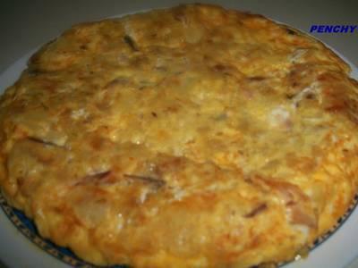 Tortilla de patatas con caballa