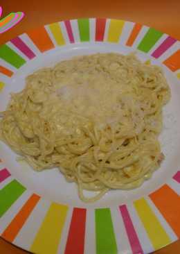 Pasta italiana a la naranja