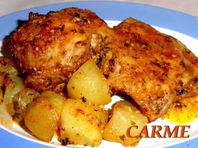 Cordero lechal asado con patatas