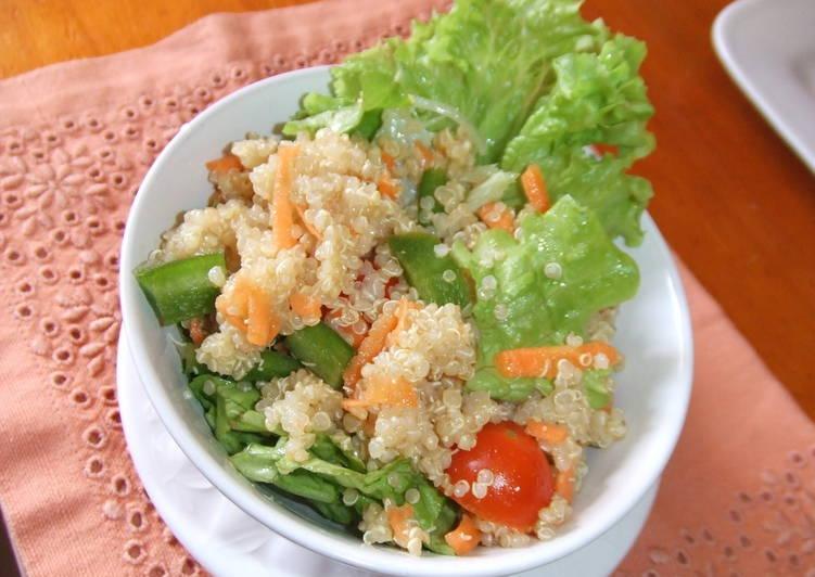 Ensalada de quinoa real
