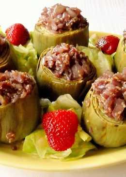 Alcachofas dulces con sésamo