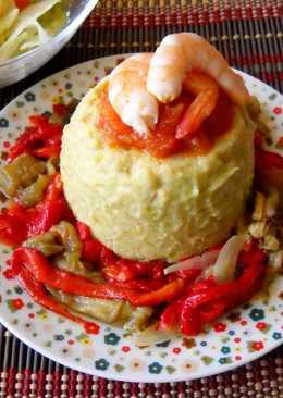 Flan salado de espárragos y patatas