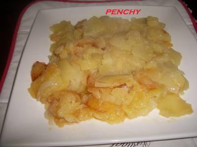Patatas a lo pobre al vino blanco