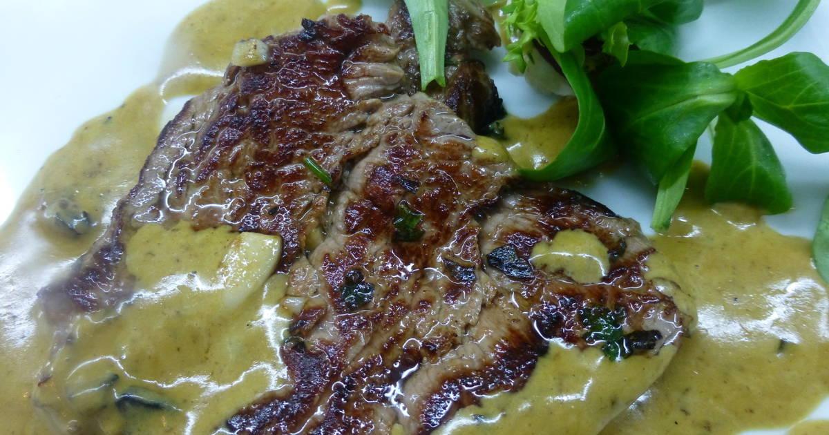 Solomillo de ternera con salsa de mostaza receta de for Cocinar solomillo ternera