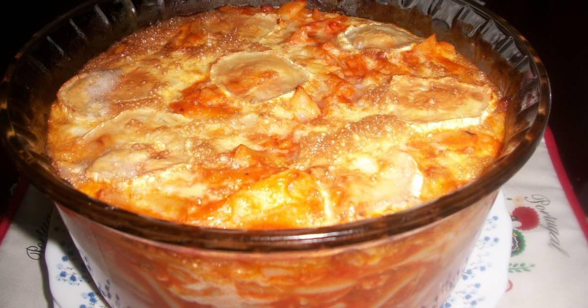 Macarrones cremosos gratinados al queso de cabra receta de Cocinar queso de cabra