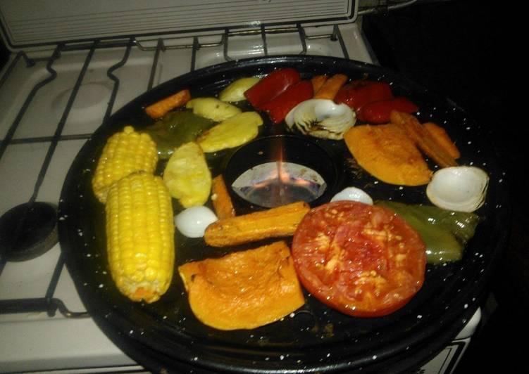 Parrillada de vegetales al parrigas receta de mario h for Parrillada verduras