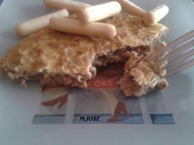 Tortilla con carne picada