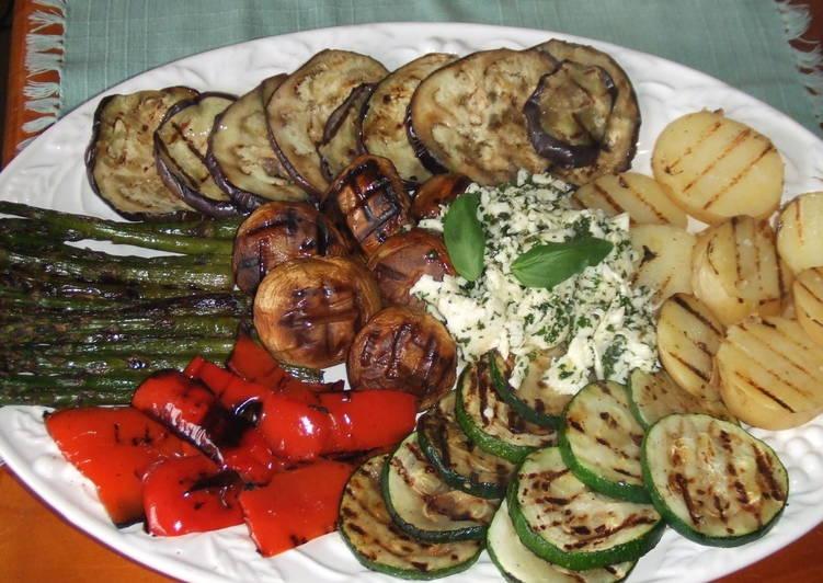 Parrillada de verduras con mozzarella macerado receta de for Parrillada verduras