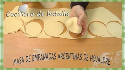 Masa de empanadas argentinas de hojaldre