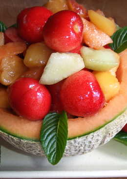 Melones rellenos al aroma de jengibre