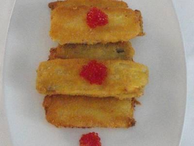 Pencas de acelga rellenas con queso