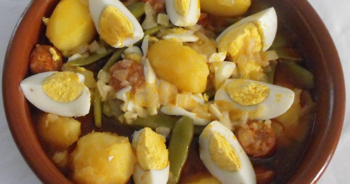 Judias verdes con chorizo 67 recetas caseras cookpad - Judias con chorizo y patatas ...