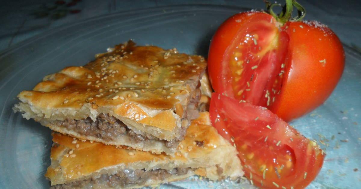 Tarta de carne con pasas y nueces receta de gabriela diez - Carne con ciruelas pasas ...