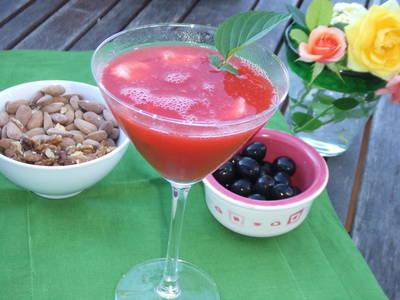 Cóctel de fresas con ginebra
