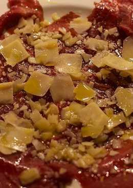 Carpaccio de ternera con queso