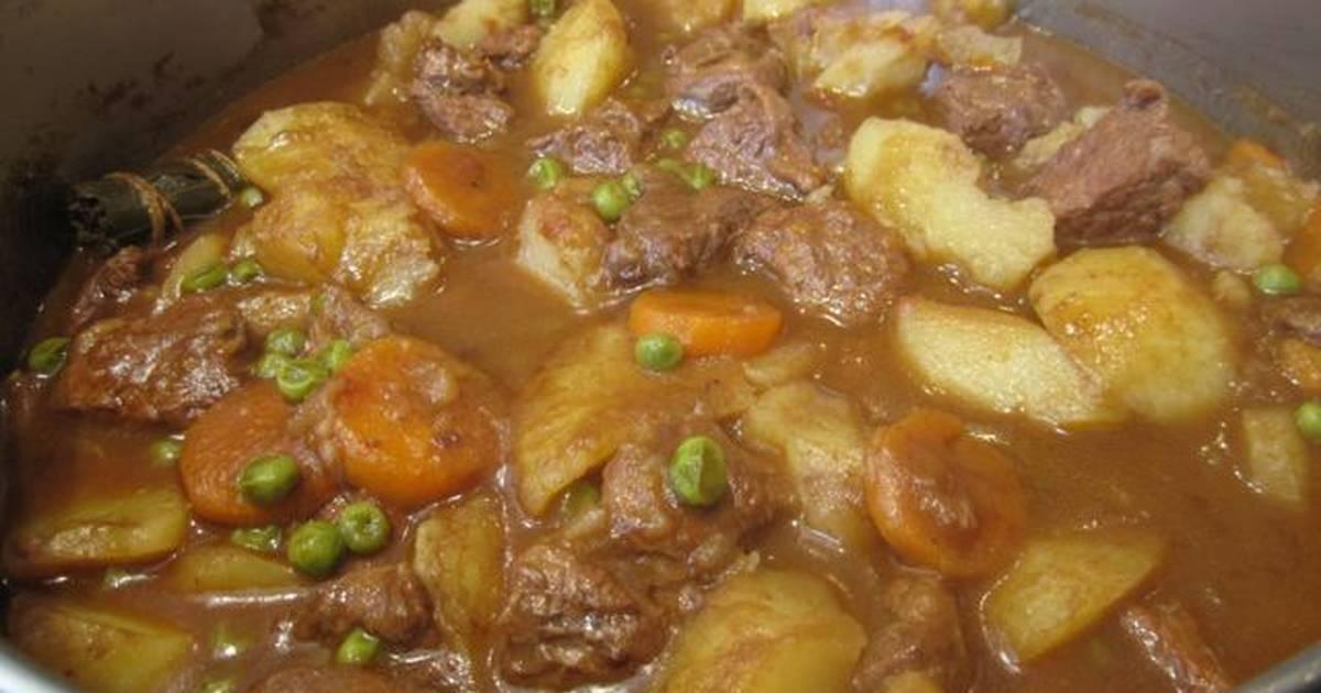 Estofado de carne con patatas y guisantes receta de for Cocinar jurel