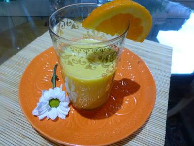 Zumo de kiwi, pera y naranja