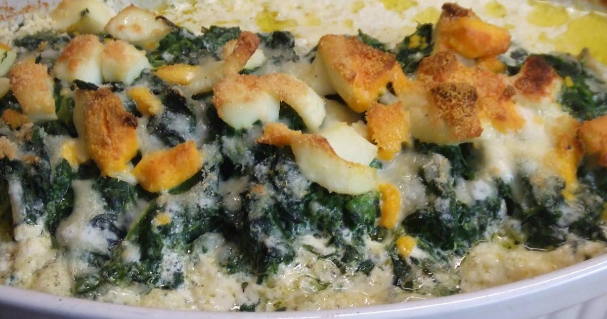 Bacalao al horno con espinacas y crema receta de cuqui - Cocinar bacalao congelado ...