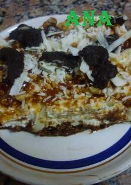 Postre fabuloso de cheesecake y tiramisú