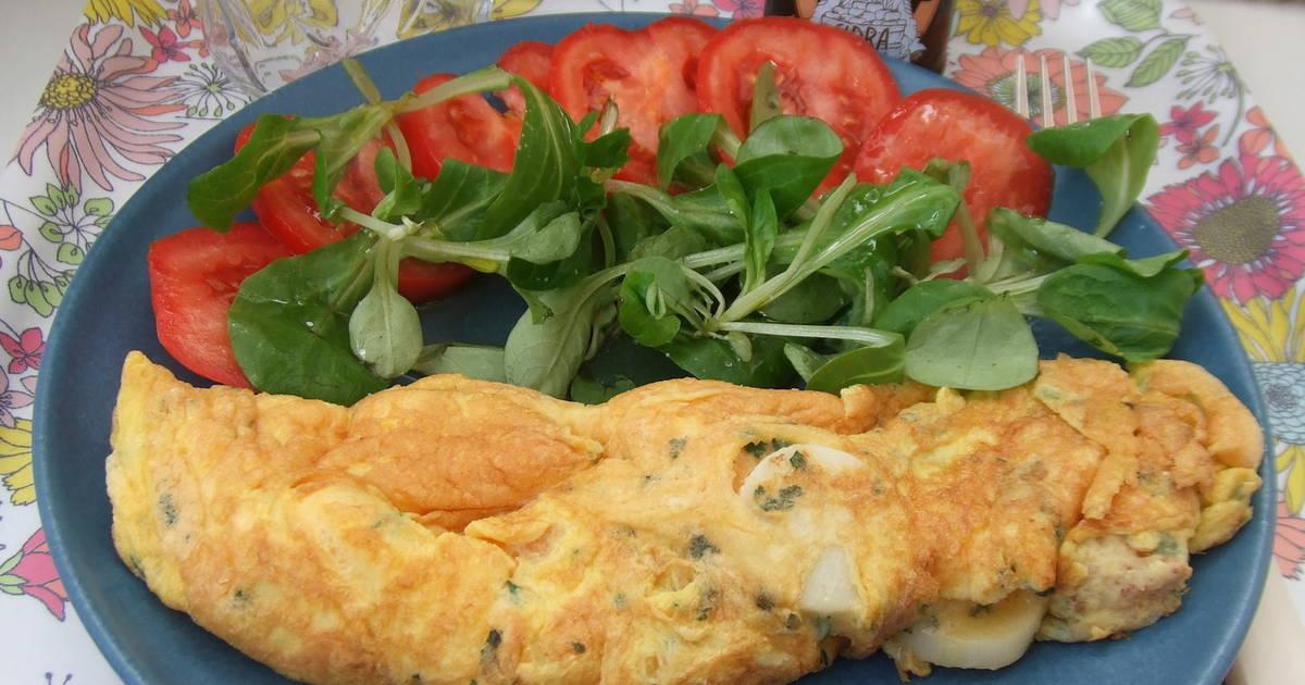 Tortilla francesa rellena de palmitos receta de cuqui - Tortilla francesa calorias ...