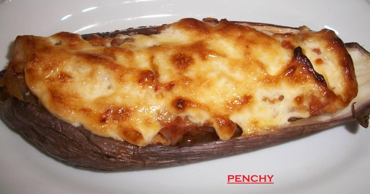 Berenjenas con bacalao gratinadas al ali oli receta de - Berenjenas rellenas de bacalao ...
