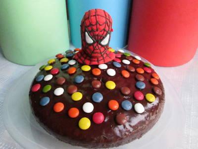 Pastel de coca cola Spiderman