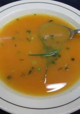 Sopa crema de calabaza y zanahoria