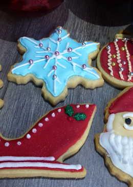 Galletas de mantequilla decoradas de navidad