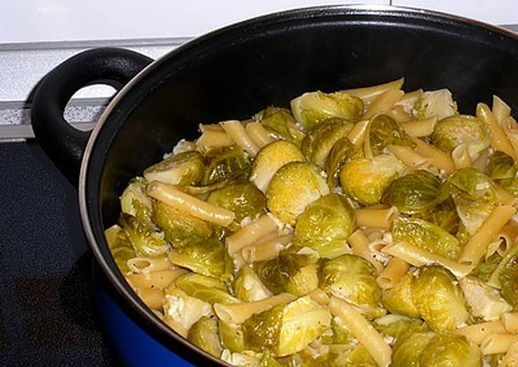 Pasta con coles de bruselas receta de mis recetas cookpad - Como cocinar coles de bruselas ...