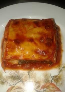 Lasagña de acelgas con tomate frito