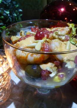 Cóctel de Navidad con ensalada
