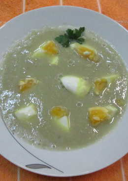 Sopa crema de alcachofas