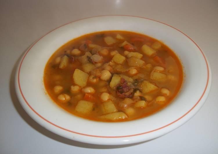 Garbanzos cocidos de bote y hortalizas receta de kiko - Preparacion de garbanzos cocidos ...
